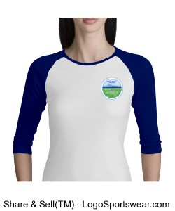 Bella + Canvas Ladies 3/4 Sleeve Raglan Colorblock T-Shirt Design Zoom
